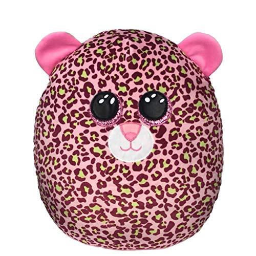 Ty – Squish a Boos – Cojín de peluche infantil de Lainey el leopardo, 40 cm, TY39199