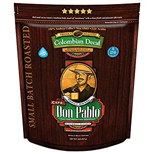 2LB Cafe Don Pablo Decaf Colombian Gourmet Whole Bean Coffee
