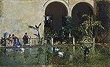 dxycfa Piscina en los jardines del Real Alcázar Sevilla Kit de pintura por números para adultos Kit de pintura acrílica para niños adultos principiantes 16x20 (sin marco)