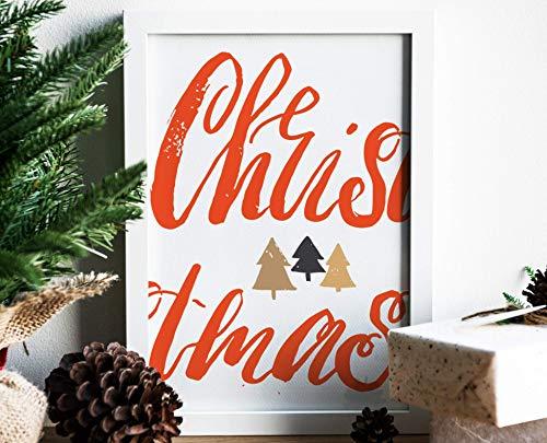 XMAS CHRISTMAS - A3 / A4 - Kunstdruck, Geschenk, Weihnachten, Weihnachtsbaum