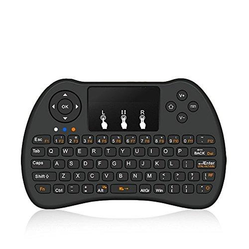 Mini-Teclado Inalámbrico H9 2.4Ghz Recargable con Mini Gestos Touchpad para Android TV BOX, T8, TX2, TX3, Raspberry Pi, Minix, Fire TV, NVIDIA Shield