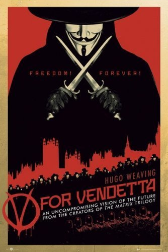 V For Vendetta - Movie Poster (Regular Style 2) (Size: 24' x 36') by...