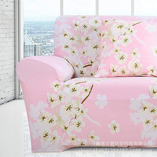 Topashe Funda sofá Duplex,Funda de sofá de Tela, Funda de sofá Antideslizante-D_235-300cm,elástico Tejido Protector por sofá Funda