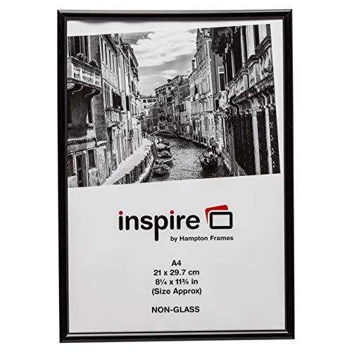Hampton Frames BACKLOADER Cartel Certificado Marco De Fotos Plexiglás Negro A4 (21x30cm) BLR2130BLK