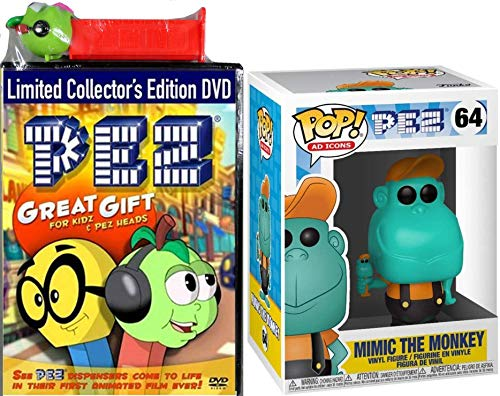 Monkey Pez Heads Animated Dispensers Cartoons & Mimic Collectible Figure funko Ad Icons 2 pack