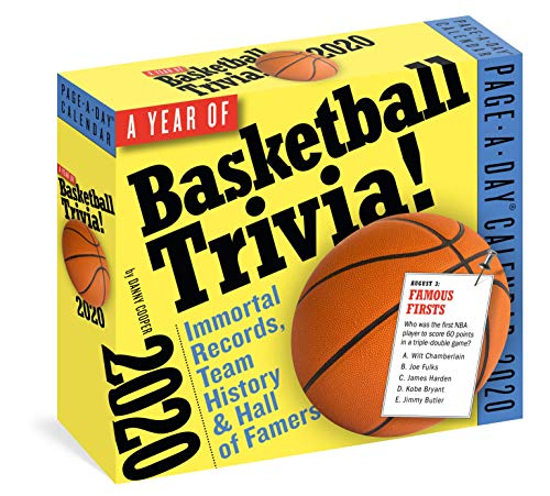 Cooper, D: 2020 Hoops! 365 Days of Basketball Trivia Page-A-