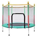 Generisc BNB Products Kinder Trampolin Grün, Indoor/Outdoor, Durchm. 140cm, extra stabil und sicher