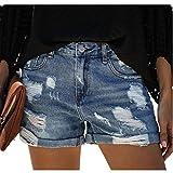 N\P Summer Street - Pantalones cortos de mezclilla para mujer