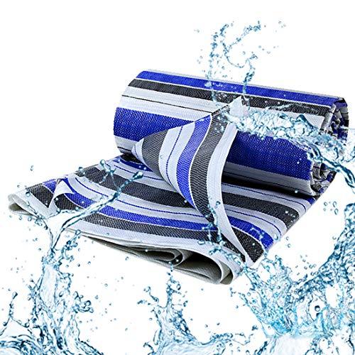 ZH1 Tarpaulin Impermeable, a Prueba de Agua a Prueba de Agua, a Prueba de Polvo, Impermeable, liviano, para Techo, Camping, al Aire Libre, Patio,4x10m