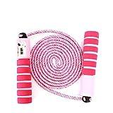 Sinwind Springseil Kinder, Springseil mit Zähler & Komfortablen Griffen Speed Rope Skipping Rope für Fitnesstraining und Boxen