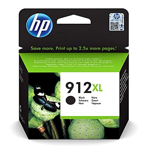 HP 912XL 3YL84AE, Negro, Cartucho de Tinta de Alta Capacidad Original, compatible...