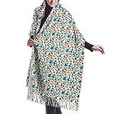 Colorido vehículo eléctrico moda mujer chal largo invierno cálido bufanda grande 196 x 68 cm / 77 x 27 pulgadas