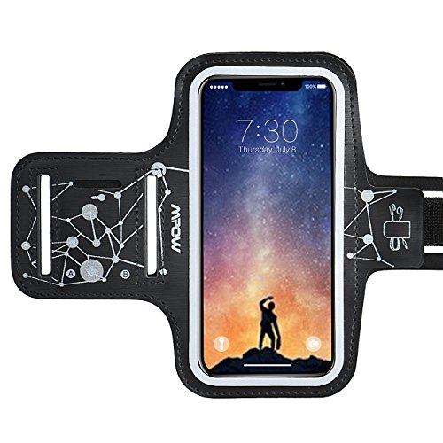 Mpow Fascia Sportiva da Braccio, Sweatproof Bracciale per iPhone XR XS X 8, Samsung Galaxy S9 S8 S7 [fino a 6,1''], con cuffia & slot chiave per l'esercizio di corsa, cielo stellato modello