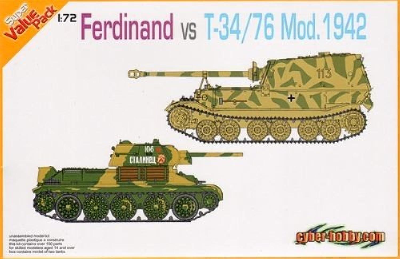 minoristas en línea Cyber Hobby 1 72 German Sd. Kfz.184 Ferdinand Vs Vs Vs Soviet T-34 76 Mod. 1942 (Twin Pack)  barato