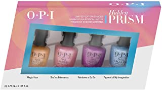 O.P.I Hidden Prism Collection, Mini Nail polish Gift Set - 3.75 ml (Pack of 4)