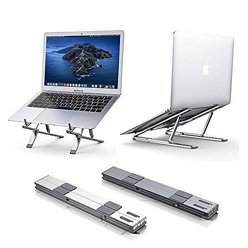 Laptop-Ständer – Höhenverstellung, zusammenklappbar, tragbar, Aluminium, leicht, rutschfest, kompatibel mit iPad/Notebooks/Laptops