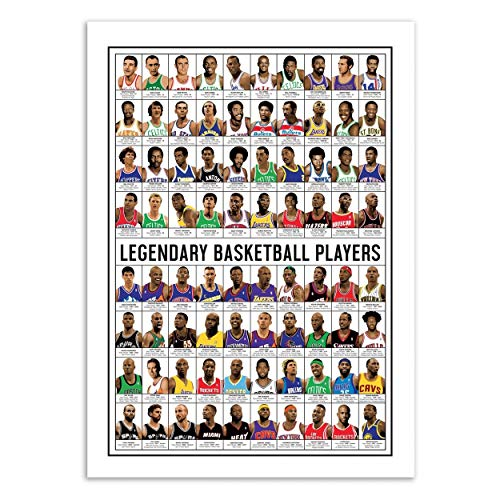 Wall Editions Art-Poster 50 x 70 cm - Legendary Basketball Players - Olivier Bourdereau