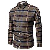 SSBZYES Camicie da Uomo Camicie a Maniche Lunghe da Uomo Camicie Casual Camicie a Quadri Camicie alla Moda da Uomo Magliette a Maniche Lunghe Magliette Casual da Uomo