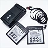 [Nokia Lumia 830 Battery] 2X 2300mAh Extra Standard Replacement Battery Travel Dock Wall Charger USB Data Cable for AT&T Nokia Lumia 830 RM-983 RM-984 RM-985 Smartphone
