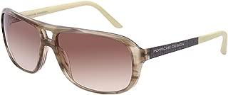 Design Womens Aviator Sunglasses (Striped/Olive Green)