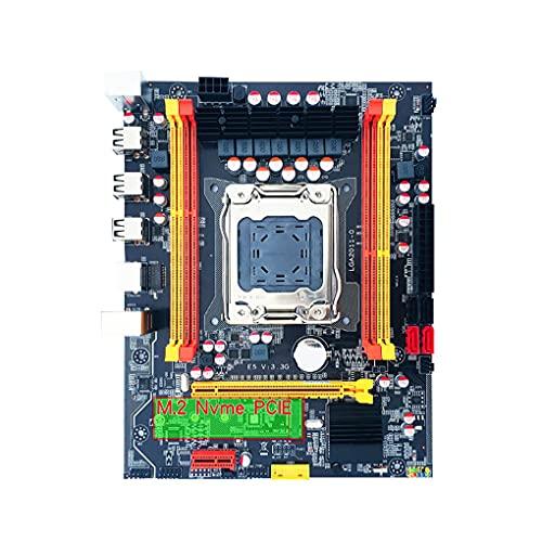 Yihaifu Placa Madre del Ordenador LGA 2011 DDR3 M.2 Ordenador Placa Base Placa Base NVMe SSD REG ECC DDR3 de Memoria de la Ayuda de Piezas de Equipo