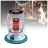 DDLL Table Top Patio Heater, Portable Gas Fire Pit with Propane Regulator, a Hose, 2 Clips, 2-3m Warming Distance, Small Infrared Patio Heater for Indoor Outdoor Patio Camping