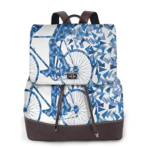 Zaino Donna Vera Pelle Bicicletta 65 Borsa Da Viaggio a Grande Capacità, Borsa a Tracolla Lady Fashion Backpack Daypack Per Scuola Viaggio Lavoro