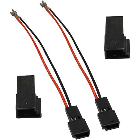 Aerzetix 2 Kabel Anschlüsse Für Lautsprecher Elektronik