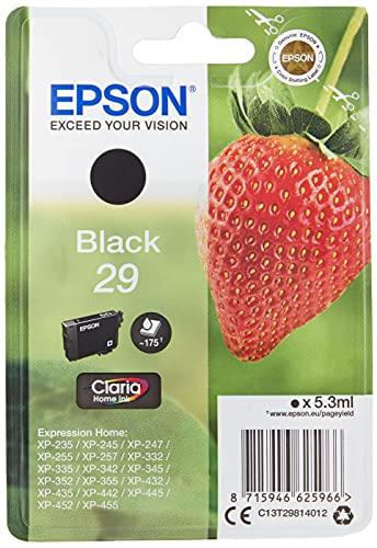 Epson 29 Serie Fragola, Cartuccia Originale Getto d'Inchiostro Claria Home, Formato Standard, Nero, con Amazon Dash Replenishment Ready