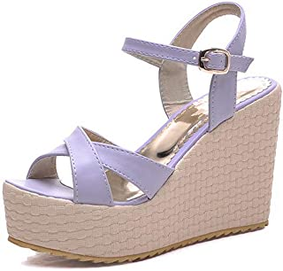 BalaMasa Womens ASL06333 Pu Platform Heels