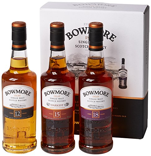 Photo of Bowmore Classic Collection Gift Pack – 3 x 200ml / 12 Year Old, 15 Year Old & 18 Year Old