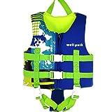 IvyH Chaleco de Natación Niño, Chaleco de Flotación Infantiles Nadar Entrenamiento Playa Yate Deportes Acuáticos Chaleco Flotante para Niño Niñas Bebé (Azul M)