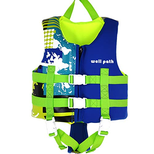 IvyH Schwimmweste für Kinder, Schwimmende Badeanzug Schwimmjacke Neopren Kleinkind Schwimmlernweste Auftriebsweste Junge Mädchen(Blau M)