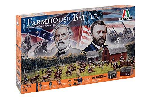 Italeri- Farmhouse Battle-American Civil War 1864-Model Kit-Scala 1:72, 6179