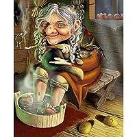 魔女の肖像画-大人と子供のための1000ピースのジグソーパズル-ハンドファミリーインタラクティブゲームの木製パズルライフアートパターン、素晴らしい休日のレジャーバレンタインデープレゼント