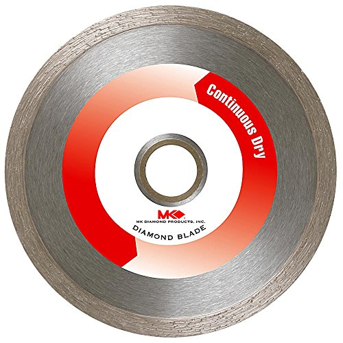MK Diamond 140277 MK-404CR 4-Inch Dry Cutting Continuous Rim Diamond Saw Blade with 5/8-Inch Arbor for Tile