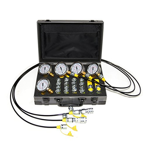 XZT Kit de prueba de presión hidráulica 60P, kit de acoplamiento de prueba, conjunto de manómetros, kit de manguera de prueba para maquinaria de construcción de excavadora Komatsu