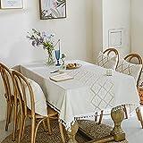 Mantel rectangular a prueba de derrames, a prueba de encogimiento, mantel resistente a las arrugas, para cocina, comedor, fiesta, decoración de mesa, 140 x 240 cm