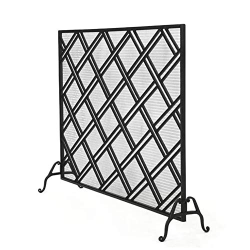 Why Should You Buy Fireplace Screens MYL Single Panel Black Iron Fire Screen for Fireplace, Heavy-Du...