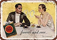 1932年のラッキーストライクたばこ メタルポスタレトロなポスタ安全標識壁パネル ティンサイン注意看板壁掛けプレート警告サイン絵図ショップ食料品ショッピングモールパーキングバークラブカフェレストラントイレ公共の場ギフト