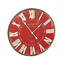 Ganz Red Wall Clock, Large