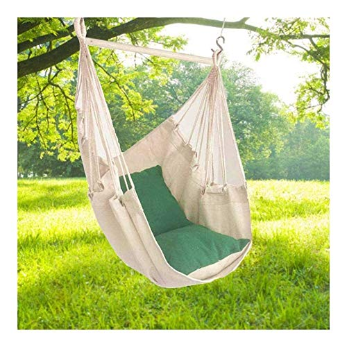 Sling hammock swing seat Literary hanging chair canvas Hanging Rope Swing,Comfortable Durable Cotton Hammock Hanging Chair With Cushions Canvas Swing Chair Seat For Children Adult Student,suitsble For