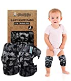 (2nd Gen.) Baby Crawling Anti Slip Knee Pads for Crawling, 2 Pairs   Protector for Toddler, Infant, Girl, Boy (Snow Camo)