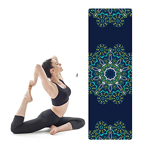 Esterilla Deporte Yoga Pilates Fitness Colchoneta Gimnasia Antideslizante, No Tóxico Alfombra Yoga para Deporte Ejercicio Sala de Yoga, 1.5mm de Grosor Mat/E