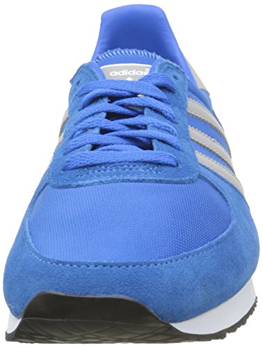 adidas ZX Racer, Zapatillas de Deporte Hombre, Azul/Gris/Blanco (Azucie/Grpumg/Ftwbla), 45 1/3