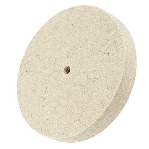 X-BAOFU, 1pc 6 pulgadas 150mm pulido pulido pulido rueda lana fieltro pulidor disco pad ampliamente utilizado en pulido de vidrio de mármol y otros no metálicos