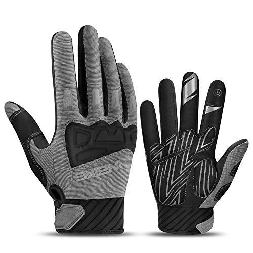 INBIKE MTB Handschuhe Herren Motocross Fahrradhandschuhe Mountainbike Fahrrad Rad Jungen mädchen Grau M