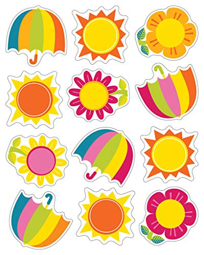 Carson Dellosa | Spring Showers and Sun Stickers | 1-inch x 1-inch, 72ct