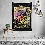 Anime Jojo'S Bizarre Adventure Tapestry Wall Hanging Decor Blanket For Bedroom Living Room Dorm Tapestry One Size