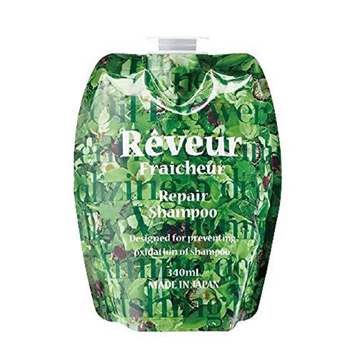 Reveur Fraicheur Repair Hair Shampoo Refill 340ml - Green Floral Scent (Green Tea Set)